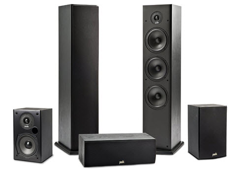 Polk Audio Fusion T Tower Speaker Package 5 1 Set